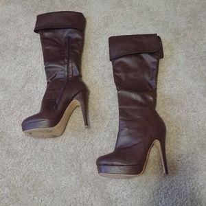 Hugh-01 Fahrenheit Stiletto Heel Boots US 5.5